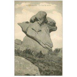 carte postale ancienne 22 PLOUMANACH. Rocher la Tête de Bélier. Envoyé qu'en 1963...
