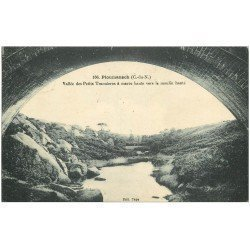 carte postale ancienne 22 PLOUMANACH. Vallée des Petits Traouïeros vers le Moulin hanté 1924