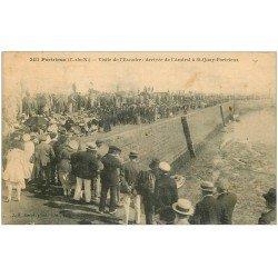 carte postale ancienne 22 PORTRIEUX-SAINT-QUAY. Visite de l'Escadre arrivée de l'Amiral