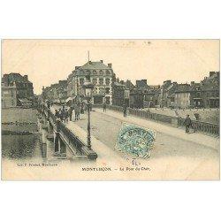 carte postale ancienne 03 MONTLUCON. Le Pont sur le Cher 1907