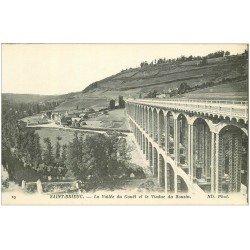 carte postale ancienne 22 SAINT-BRIEUC. La Vallé du Gouët Viaduc du Souzin