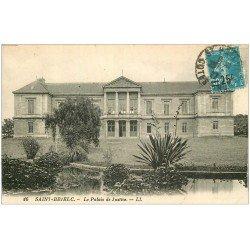 carte postale ancienne 22 SAINT-BRIEUC. Le Palais de Justice 1927