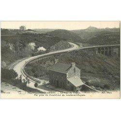 carte postale ancienne 22 SAINT-BRIEUC. Le Pont du Toupin. Passage du Petit Train à vapeur