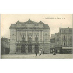 carte postale ancienne 22 SAINT-BRIEUC. Le Théâtre et Café de l'Univers avec Restaurant du Théâtre