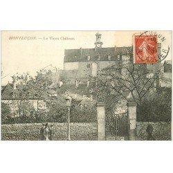 carte postale ancienne 03 MONTLUCON. Le Vieux Château 1909