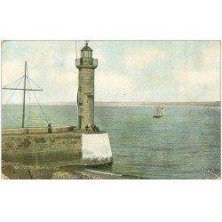 carte postale ancienne 22 SAINT-BRIEUC. Phare du Légué 1914