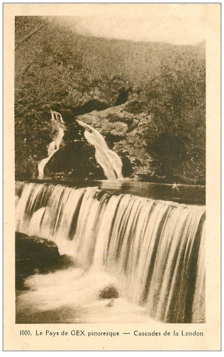 carte postale ancienne 01 GEX. Cascade de la London