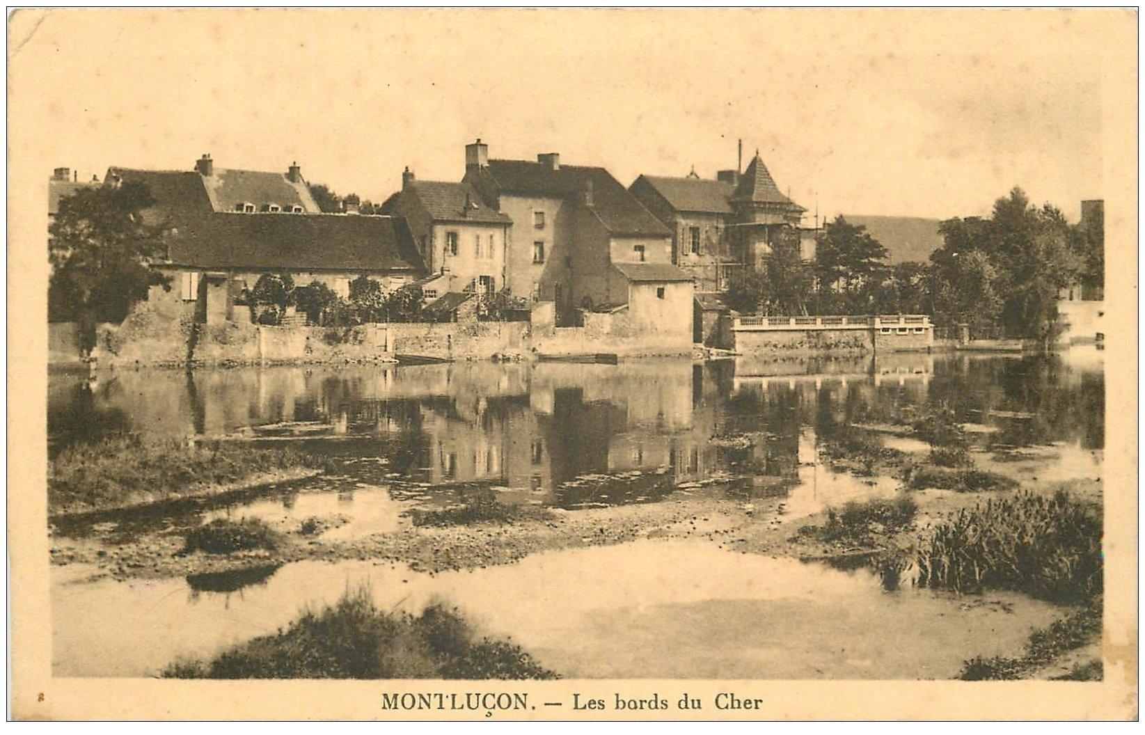 carte postale ancienne 03 MONTLUCON. Les Bords du Cher