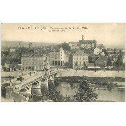 carte postale ancienne 03 MONTLUCON. Panorama Vieille Ville