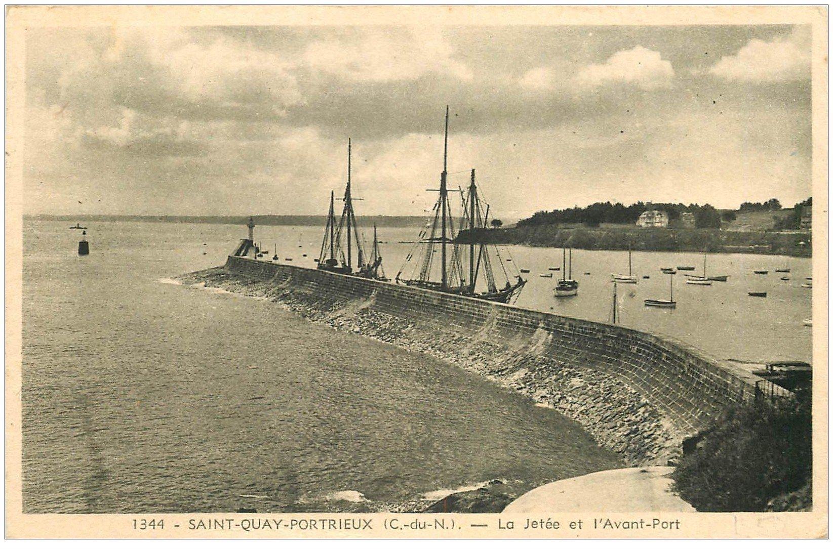 22 saint quay portrieux jet e et avant port 1951 - Port de saint quay portrieux ...