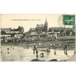 carte postale ancienne 22 SAINT-QUAY-PORTRIEUX. La Plage 1913
