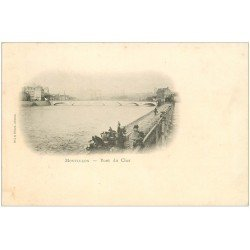 carte postale ancienne 03 MONTLUCON. Pont du Cher 1901