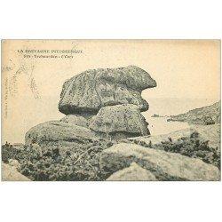 carte postale ancienne 22 TREBEURDEN. L'Ours 1912. Rocher