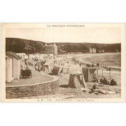 carte postale ancienne 22 TREBEURDEN. Plage de Tresmeur 1934