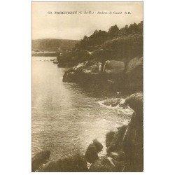 carte postale ancienne 22 TREBEURDEN. Rochers de Castel