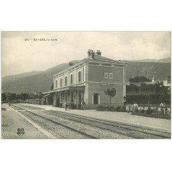 carte postale ancienne 01 GEX. La Gare