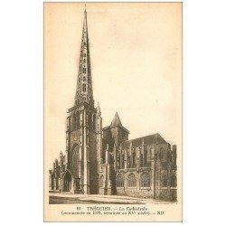 carte postale ancienne 22 TREGUIER. La Cathédrale