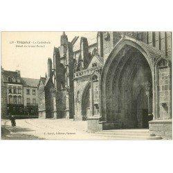carte postale ancienne 22 TREGUIER. La Cathédrale Grand Portail