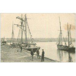 carte postale ancienne 22 TREGUIER. Le Port et bateau Islandais