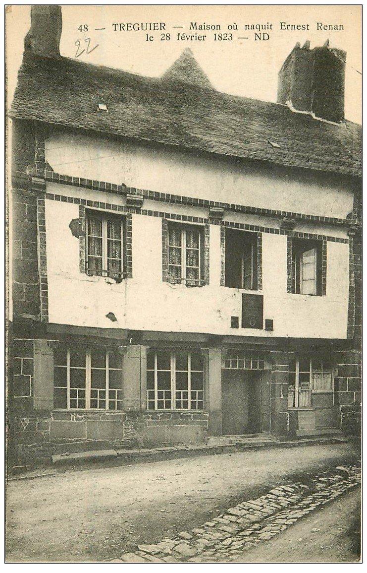 carte postale ancienne 22 TREGUIER. Maison de Renan 1934