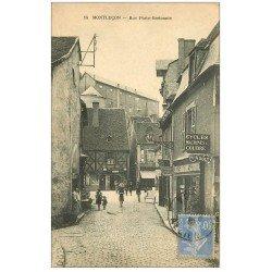 carte postale ancienne 03 MONTLUCON. Rue Porte Bretonnie. Machines à coudre et Cycles Cottereau