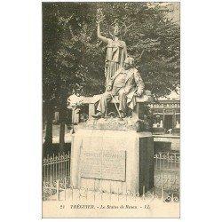 carte postale ancienne 22 TREGUIER. Statue de Renan