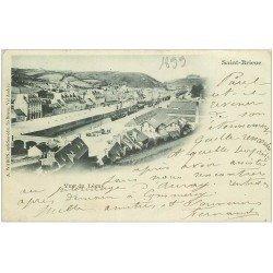 carte postale ancienne 1899 Top Rare 22 SAINT-BRIEUC. Vue du Légué. Carte Pionnière Timbre 10 Centimes 1899