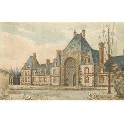 77 FONTAINEBLEAU. 13 Cpa Palais. Pavillon Henri IV, Allée Sully, Tir Arc Empereur, Chapelle, Chambres et Meubles.....