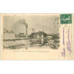 carte postale ancienne 03 MONTLUCON. Sortie des Ouvriers de la Forge Saint-Jacques 1915