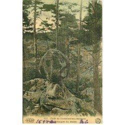 carte postale ancienne 77 FONTAINEBLEAU. Bilboquet du Diable. Carte toilée