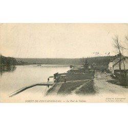 carte postale ancienne 77 FONTAINEBLEAU. Le Port de Valvins 1904