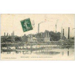 carte postale ancienne 03 MONTLUCON. Sortie des Ouvriers de Saint-Jacques 1909