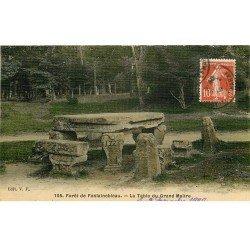carte postale ancienne 77 FONTAINEBLEAU. La Table du Grand Maître. Carte toilée 1909