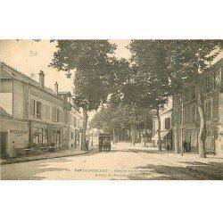 carte postale ancienne 77 FONTAINEBLEAU. Avenue du Chemin de Fer 1903 Comptoir de Bourgogne