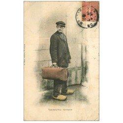 carte postale ancienne 03 MONTLUCON. Type de la Rue. Grignolet 1907