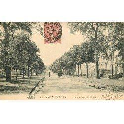 carte postale ancienne 77 FONTAINEBLEAU. Boulevard de Melun 1906