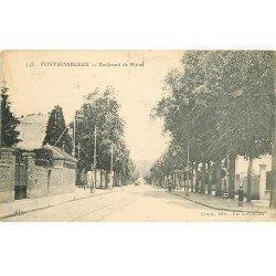 carte postale ancienne 77 FONTAINEBLEAU. Boulevard de Melun
