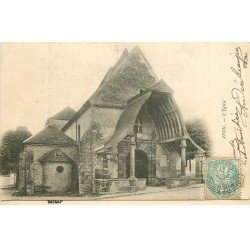 carte postale ancienne 77 AVON. FONTAINEBLEAU. L'Eglise 1905