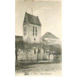 carte postale ancienne 77 AVON. FONTAINEBLEAU. L'Eglise et son Clocher