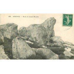 carte postale ancienne 77 ARBONNE. Roche du Grand Mouchet