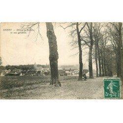 carte postale ancienne 77 ANNET. Allée de Louche personnage assis 1909