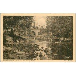 carte postale ancienne 03 MONTMARAULT. Pont sur la Bouble 1939