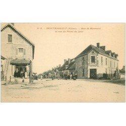 carte postale ancienne 03 MONTMARAULT. Rue de Blomard et du Point du Jour. Boucherie et Boulangerie