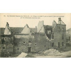 carte postale ancienne 77 BARCY. Maison bombardée