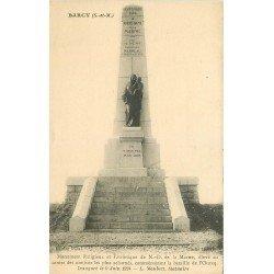 carte postale ancienne 77 BARCY. Monument Bataille de l'Ourcq