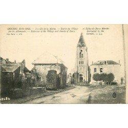 carte postale ancienne 77 BARCY. Eglise détruite