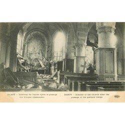 carte postale ancienne 77 BARCY. Eglise intérieur détruit