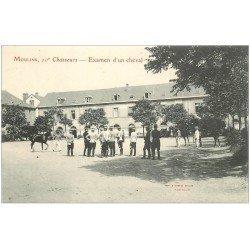 carte postale ancienne 03 MOULINS. 10° Chasseurs examen d'un Cheval