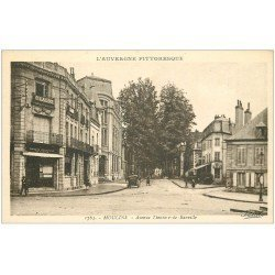 carte postale ancienne 03 MOULINS. Avenue de Banville. Banque Régionale du Centre