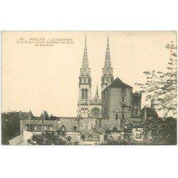 carte postale ancienne 03 MOULINS. Cathédrale et Prison